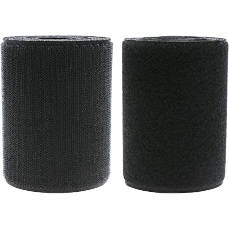 Shoe Clothes DIY Craft,2 Yard Length Mini Skater 4 Inch Width Black Sew on Hook Loop Strips Non-Adhesive Back Nylon Fabric Tape Fastener for Bag