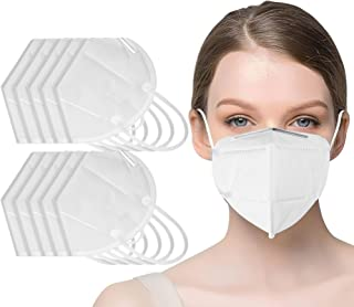 20 pcs Face Mask - 5 Layer Filters - Non Woven Hypoallergenic Protection - Dust, Pollen and Haze Proof - Superior Face Sea...