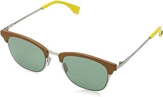 FENDI - FF 0228/S QT VGV Gafas de sol, Verde (Silver Green/Green), 50 para Hombre