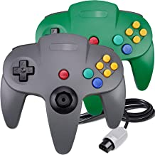 2 Packs N64 Controller, King Smart Wired N64 Controllers with Upgraded Joystick for Original Nintendo 64 Console (Gray & G...
