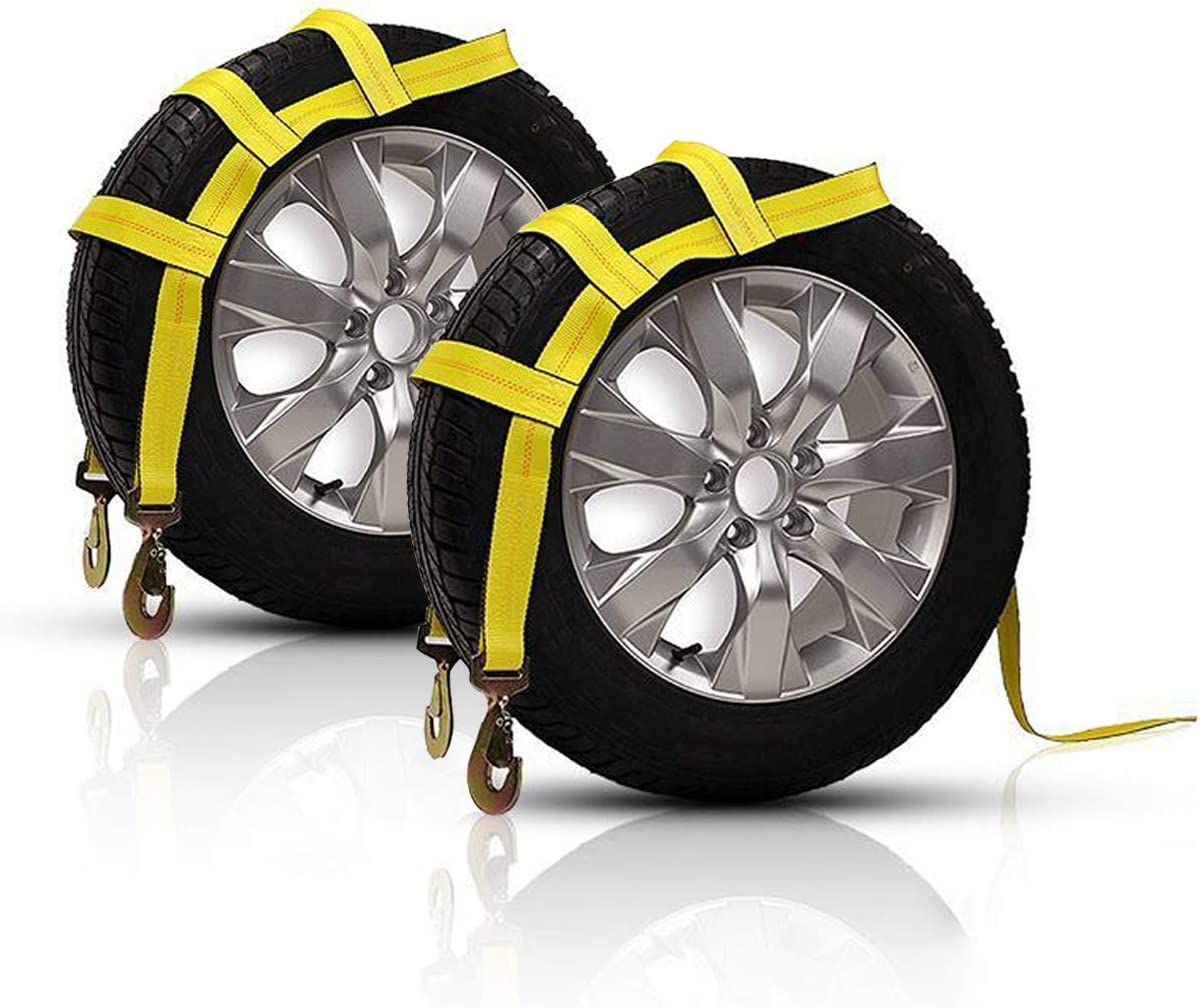 ALAVENTE Tow Dolly Basket Straps with Small for Flat Award-winning store Hook Med to Easy-to-use