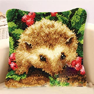 Crochet Loquet Kit Coussin Bricolage Main Craft Loquet Crochet Coussin Complet Kit de Protection Coussin Cover Hedgehog 40...