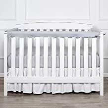 4pcs Anti-Collision Solid Nursery Thicken Liner Protector Guard Pad Safety Baby Crib Bumper Removable Washable Home Bedroom Mesh Crib Liner White