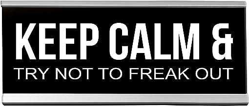 Keep Calm Freak Desk Black