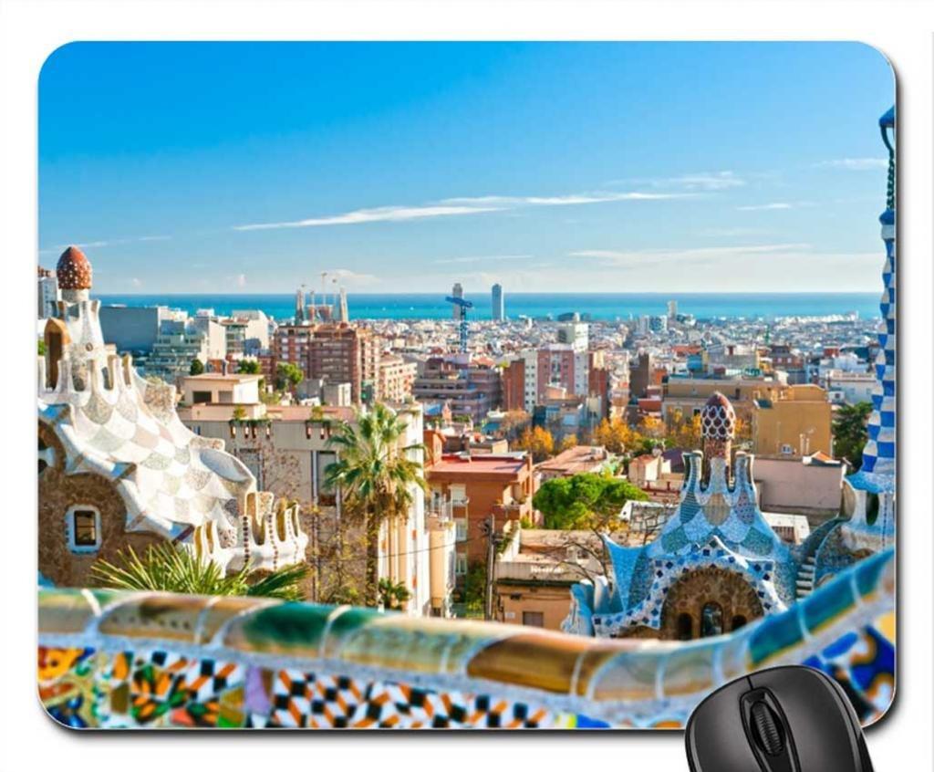 Barcelona España cojín de ratón, Mousepad: Amazon.es: Oficina y papelería