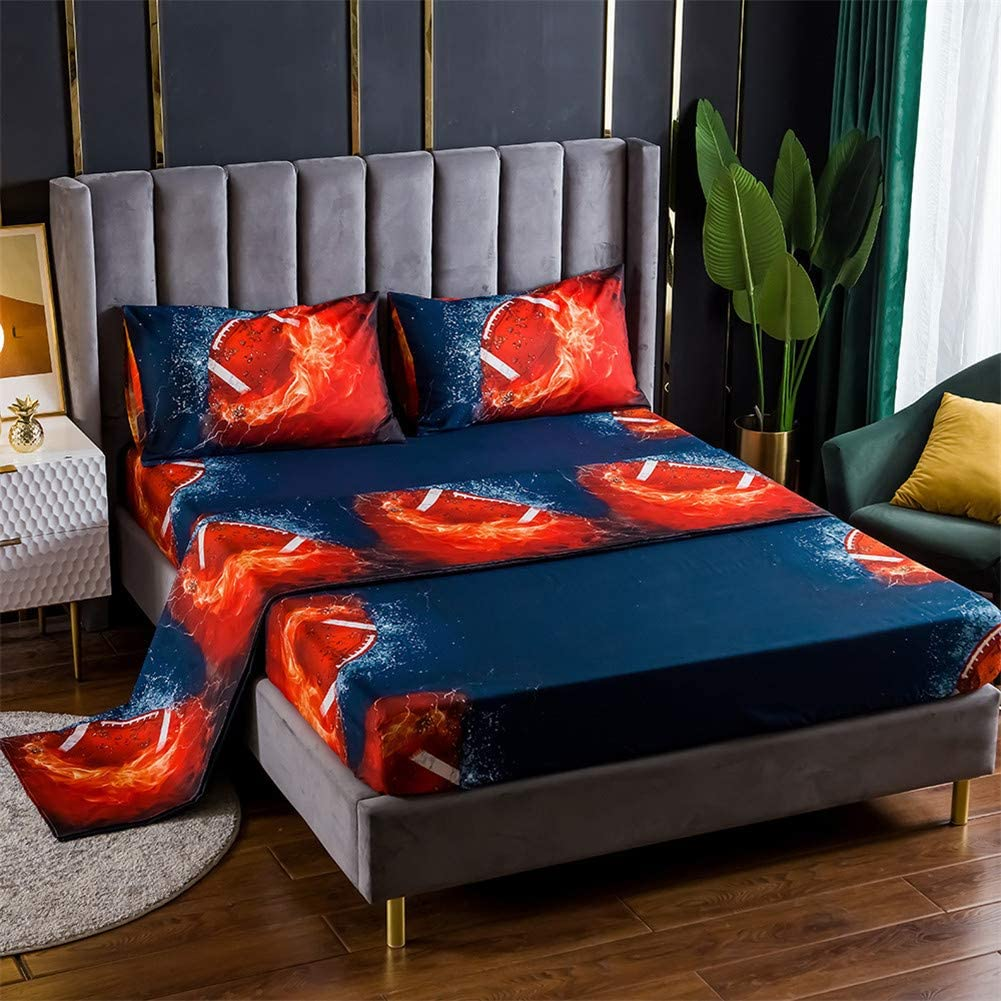 Bed Sale special price Sheet 3 Piece Set security 1 Pillowcases-3D Fitted+2 Sports Fo Flat+1