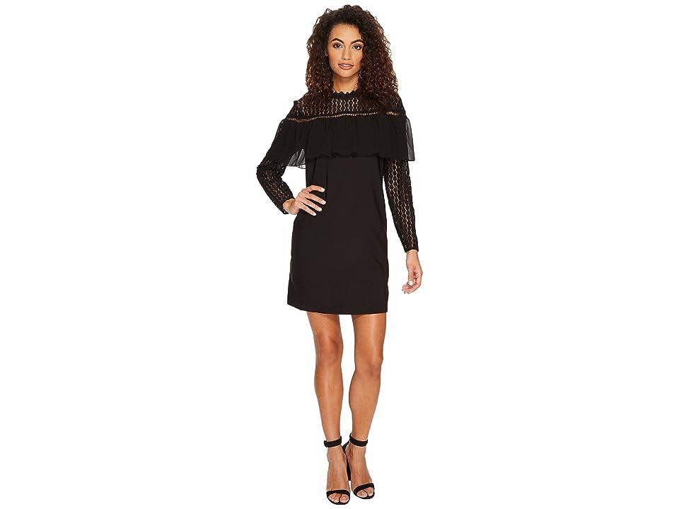 kensie Thick Stretch Twill Dress KSNK9980 (Black) Women