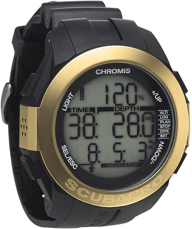 ScubaPro Scuba Diving Watch Computer Chromis  gold Black