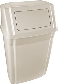 Rubbermaid Slim Jim Wall Mounted Container, 56.8 L - Beige