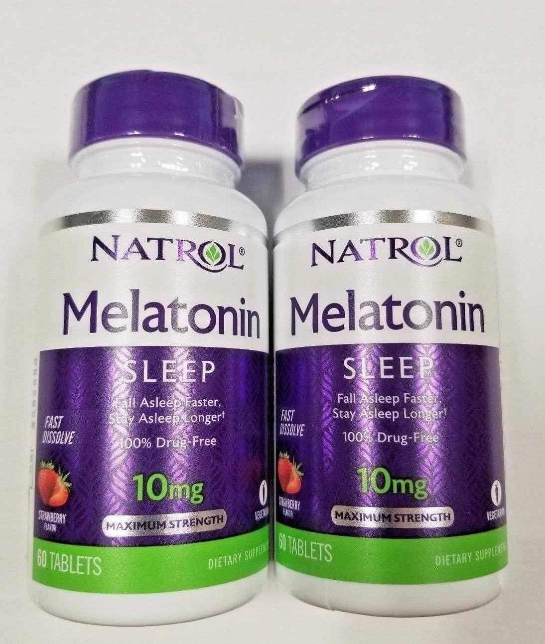 Natrol Melatonin 10mg Fast Nippon regular Max 59% OFF agency Tablets 60-Coun Dissolve Strawberry
