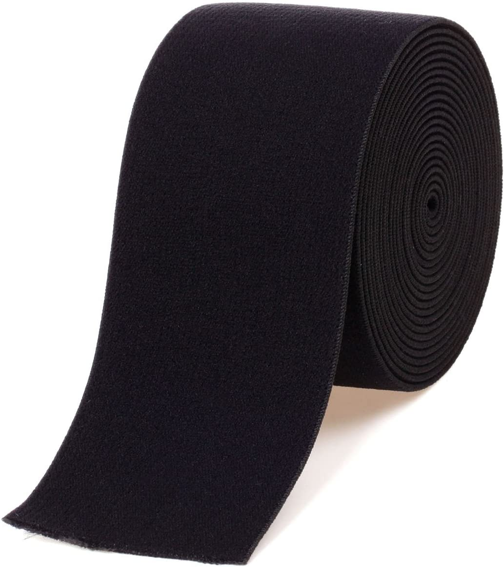 Fast Free Shipping from USA 50 yds New Knitted Soft Elastic 2 inch Color Black