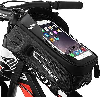 MoBearer Bike Frame Bag Waterproof with Phone Holder Bike...