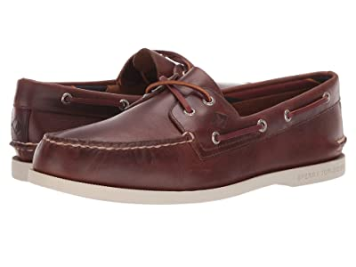 Sperry A/O 2-Eye Plush Varsity (Dark Tan) Men