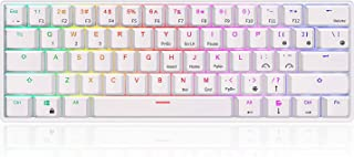RK ROYAL KLUDGE RK61 RGB Wireless/Wired 60% Compact Mechanical Keyboard,61 Keys Bluetooth Small Portable Gaming Office Key...
