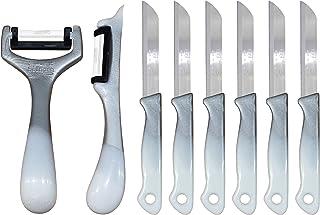 Solingen Set de 8 couteaux à fruits et éplucheur ✅ 2 éplucheurs ✅ 6 couteaux à fruits (Galaxy Argent)