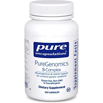 Pure Encapsulations - PureGenomics B-Complex - Broad Spectrum B Vitamin Support for Common Genetic Variations - 120 Capsules