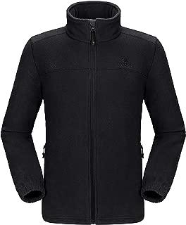 CAMEL Men's Fleece Jackets with Pockets Soft Long Sleeve Full Zip Fleece Coat for Spring Outdoor