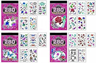 Birthday Popper Girls Theme Temporary Tattoos (Set of 10 Booklets) for All Age Group  Cute Style   100+ Tattoo Designs  Bo...