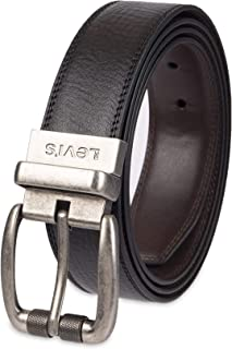 Men's 100% Leather Reversible Casual Jean Belt