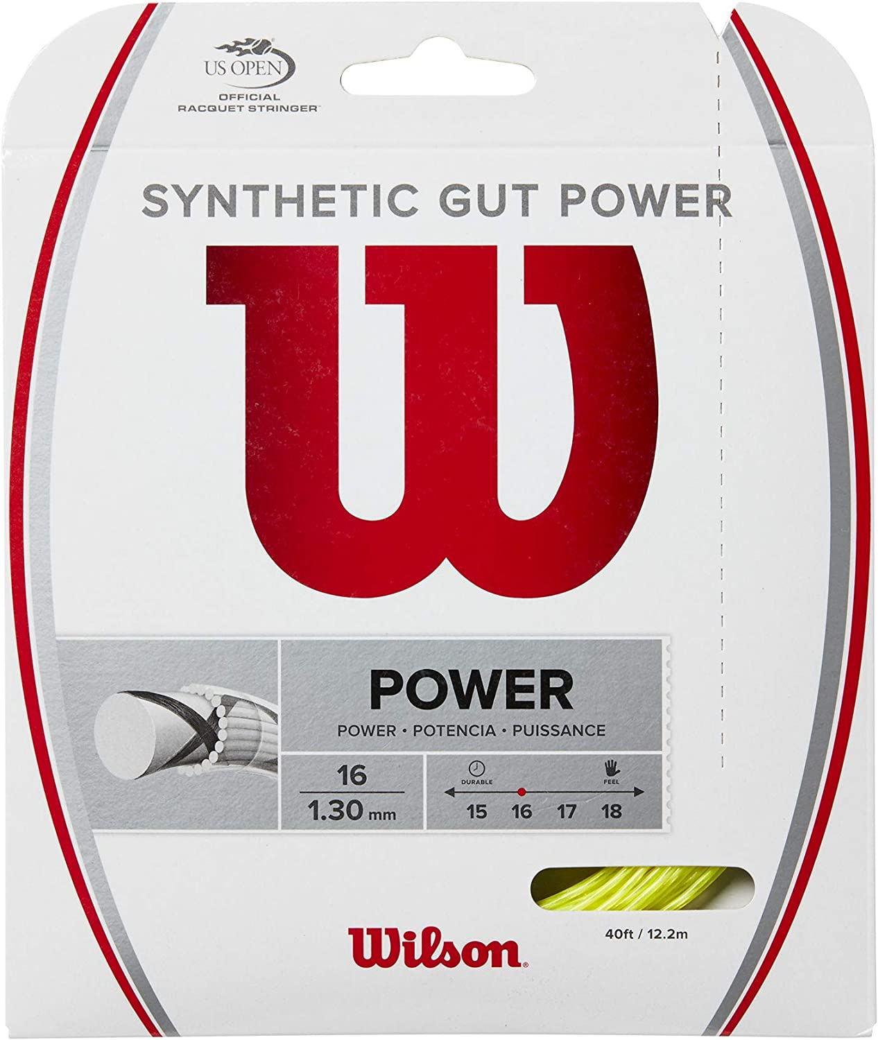 Wilson Synthetic Gut Max 90% OFF Power Tennis 16 Selling and selling String gauge Set -