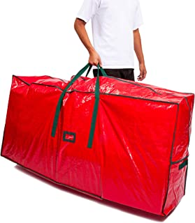Juvale 9 Foot Large Artificial Christmas Tree Storage Bag with Handles, Red