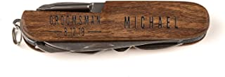 Sponsored Ad - Personalized Pocket Knives with Custom Text (Michael Design) | Customized Wood-Handled Pocket Knife | Custo...