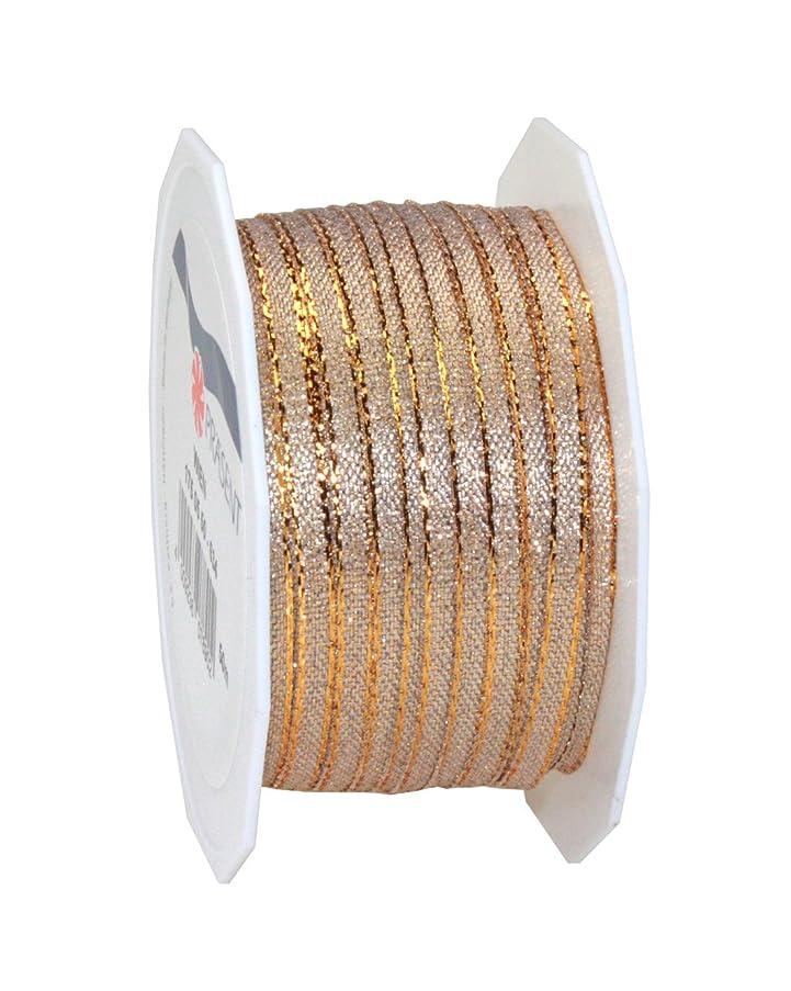 Prasent 5 mm 50 m Wien Metallic Mesh Ribbon, Gold