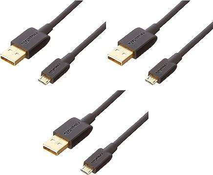 AmazonBasics - Cavo USB 2.0 da A maschio a Micro-B (Confezione da 3), 0,9 m, Nero - Trova i prezzi più bassi
