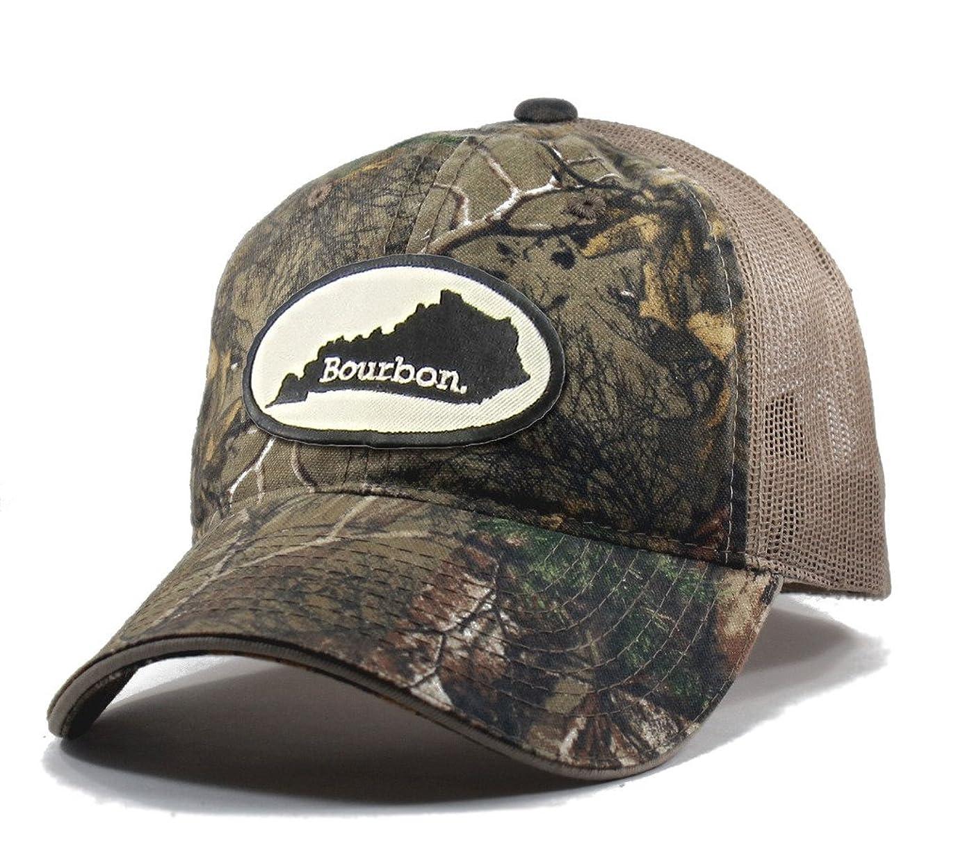 Homeland Tees Men's Kentucky Bourbon Realtree Camo Trucker Hat