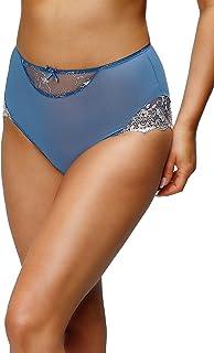 Nessa P2 Women's Simone Blue Solid Colour Knickers Panty Brief