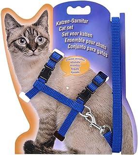 PETCARE Adjustable Pet Cat Harness Leash Set Nylon Strap Collar With Leads Kitten Fluorescent Halter Belt Strips for Walki...