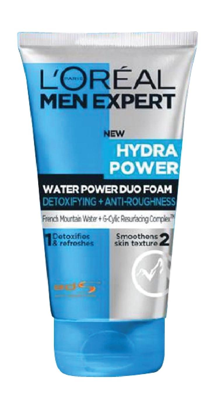機構フォロー哺乳類L'Oreal Paris Men Expert Hydra Power Duo Foam Cleanser, 100ml