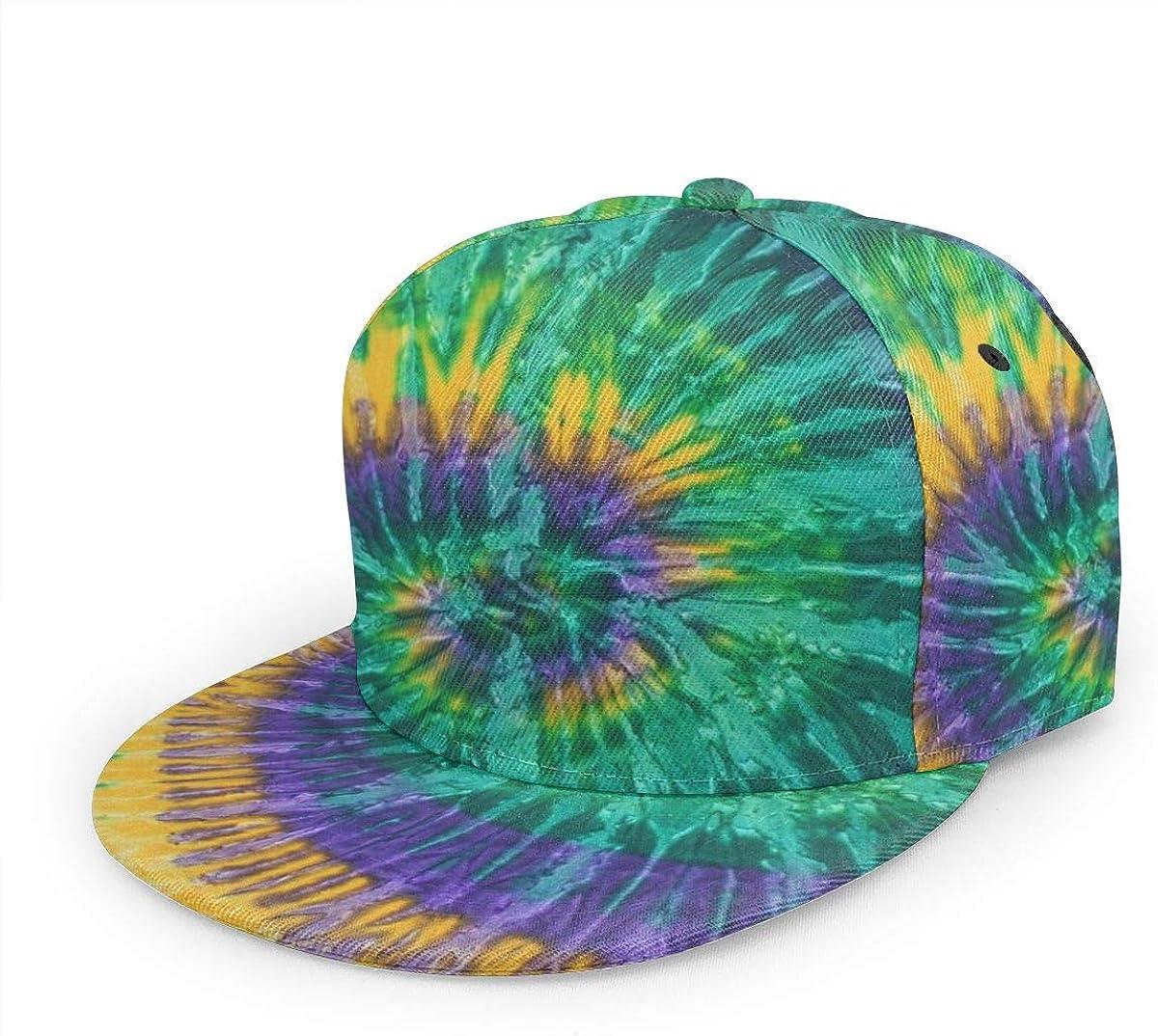 BWBFVPW New color Tie Dye Discount mail order Hip Hop Flat Cap Adjustable Brim Baseba Snapback