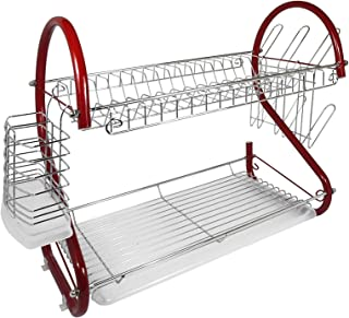 Better Chef DR-165R 2-Tier Dishrack, 16-Inch, Red
