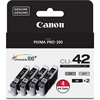 SuppliesMAX Compatible Replacement for Canon PIXMA PRO 100 Light Gray Inkjet CLI-42LGY 6391B001