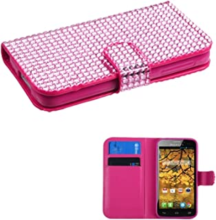 MYBAT Book-Style MyJacket Wallet with Card Slot 829 for Alcatel 7024W One Touch Fierce - Retail Packaging - Pink Diamonds