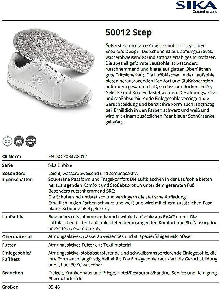 50012 Bubble Step - Sneaker Berufsschuh - Geeignet für Krankenhaus und Pflege, Gastronomie (HORECA) und Küche, Pharmaindustrie, Dienstleistung und Reinigung Weiß vAe4Z
