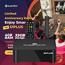 $399 » S1 Plus SuperBox Android tv Box, Better Than S1 PRO 4GB RAM 32GB ROM Dual Band 2.4GHz/5GHz Bluetooth Quad Core Full HD 4K Ultra HD 6K USB3.0 TV Box