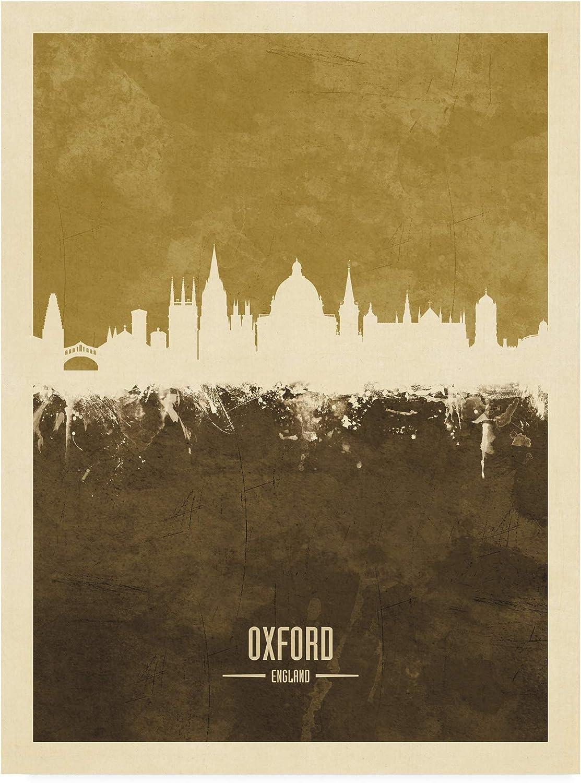 Trademark Fine Art Oxford England Skyline Brown