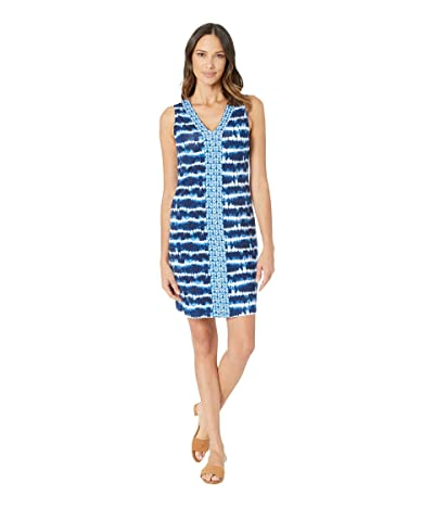 Tommy Bahama Oliana Stripe Sleeveless Dress (Island Navy) Women