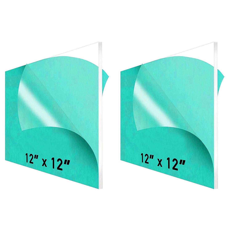 "12 x 12"" Clear Acrylic Sheet New life 1 2-Pack Plexiglass 4 unisex –"