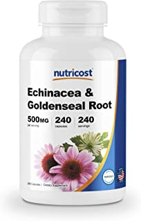 Nutricost Echinacea & Goldenseal Root, 500mg, 240 Capsules - High Quality Veggie Caps, Non GMO, Gluten Free