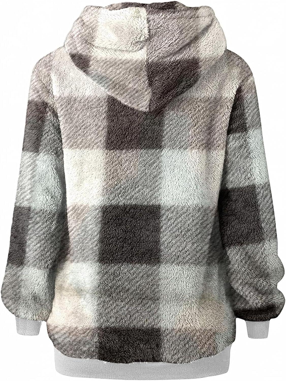 POLLYANNA KEONG Womens Hoodies Fashion Leopard Graphic Warm Winter Zipper Long Sleeve Sweatshirt Plus Size with Pocket