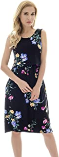Bearsland Women's Sleeveless Maternity Dress Nursing...