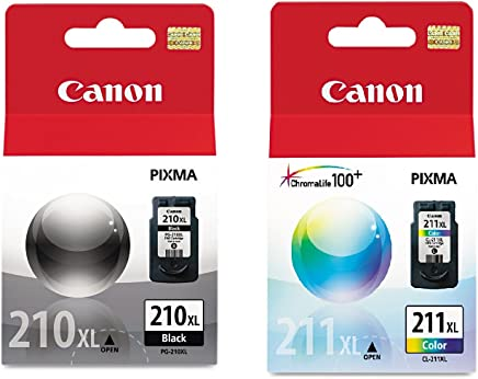 Canon PG-210XL/CL-211XL Extra High Yield Black and Color...