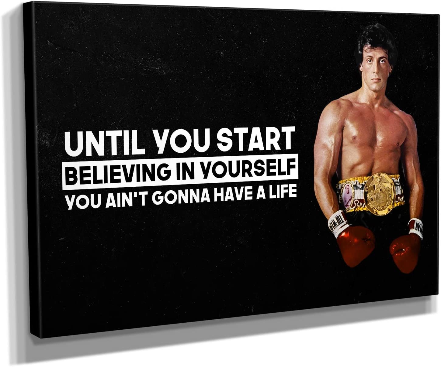 Albuquerque Mall Rocky Balboa Quote Canvas Print Art Popular shop is the lowest price challenge Wall Motivational