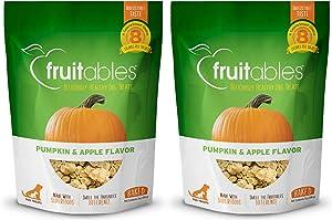 Fruitables Baked Dog Treats Pumpkin & Apple Flavor (2 Pack) 7 oz Each