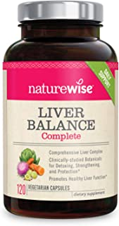 NatureWise Liver Detox Cleanse Supplement (2 Month Supply) Triple Repair Formula with Artichoke, Milk Thistle, Turmeric, a...