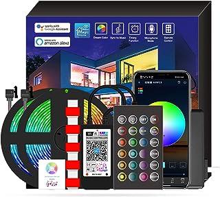 AUSELECT LED Strips 2x5M 300LED 5050RGB IP65 Waterproof 24keys Bluetooth Phone Control, with Music, WiFi LED Strips Work w...