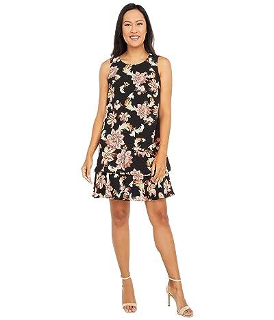 LAUREN Ralph Lauren Tyree Sleeveless Day Dress (Black/Pink/Multi) Women